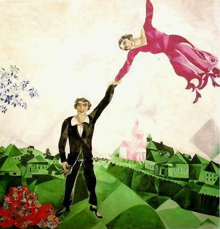 Mujer voladora de Chagall