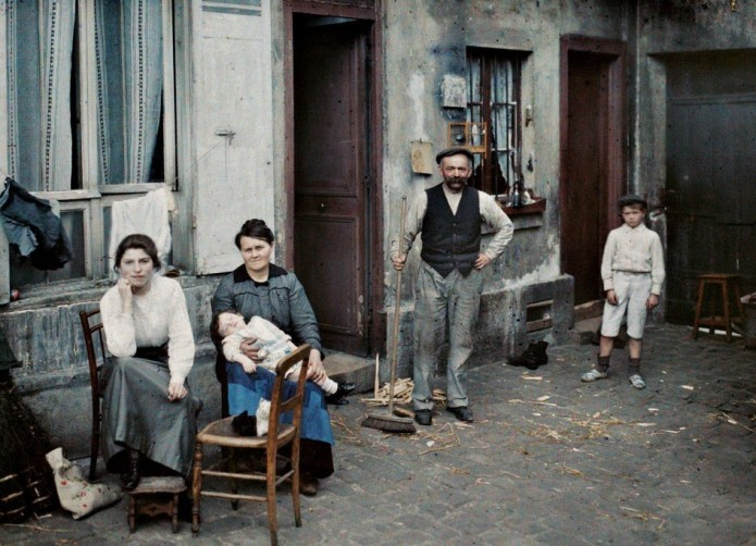 Albert Kahn retrato familia parisina junio 1914