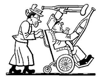 Švejk en silla de ruedas