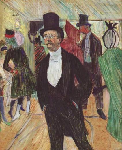 El banquero Henri Fourcade,pintado por Toulouse-Lautrec