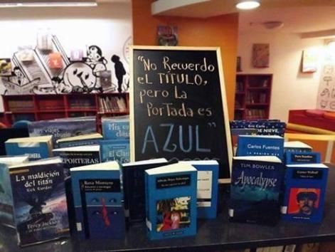 La pesadilla del librero la portada es azul