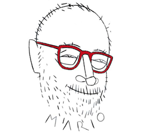 Mario Muchnik retratado por Eduardo Arroyo