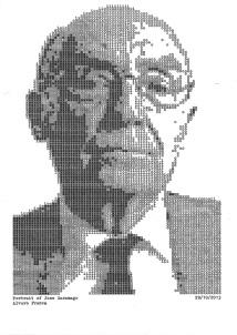 Saramago mecanografiado por Alvaro Franca