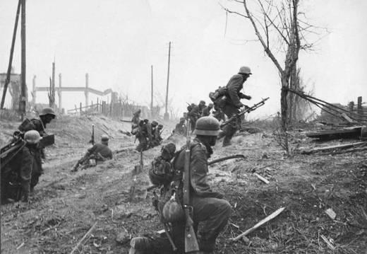 Soldados alemanes en Stalingrado