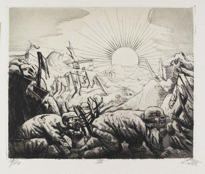 Otto Dix Essenholer-bei-Pilkem