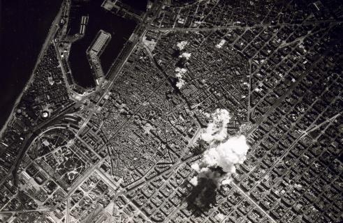 El bombardeo de Barcelona del 17 de marzo de  1938