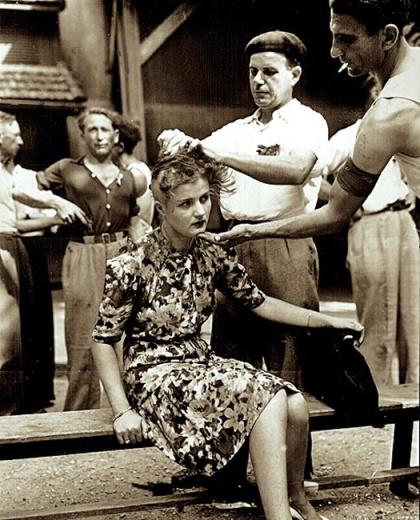 Mujer castigada con el rapado de su cabeza