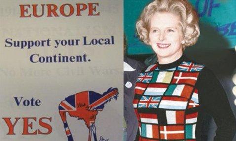 Thatcher jersey banderas UE 1975 referendum