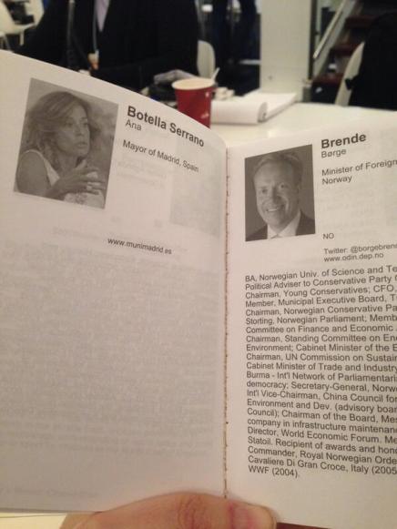 El curriculum de Ana Botella en Davos