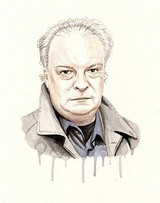 Retrato de Enrique Vila-Matas según Pablo Gallo