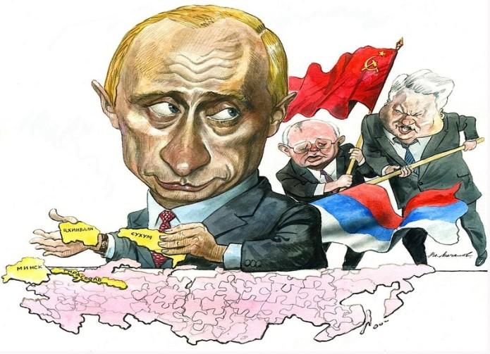 Caricatura de Putin