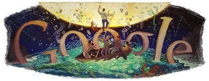 Doodle 88 aniversario de Italo Calvino