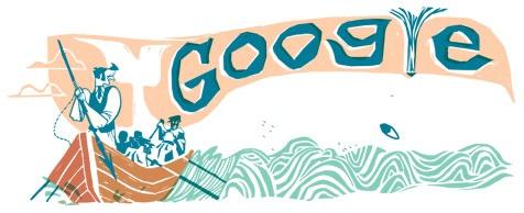 Doodle del 161 aniversario de Moby Dick