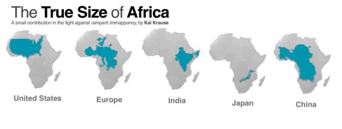 El verdadero tamaño de África