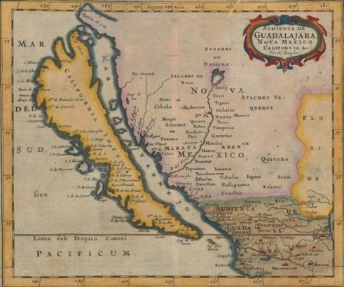 Mapa de California como una isla