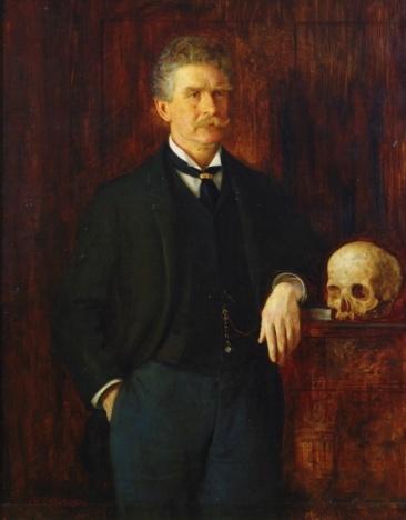 Ambrose Bierce retratado por J. H. E. Partington