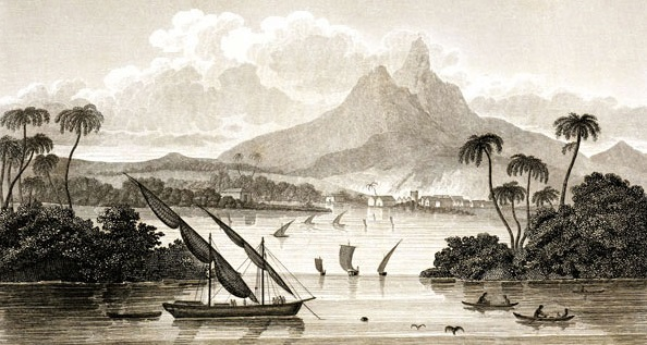 El puerto de Black River en el Territorio de Poyais
