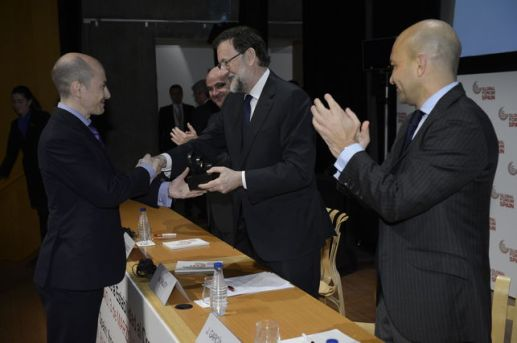 Rajoy entrega premio a Jenaro García Gowex