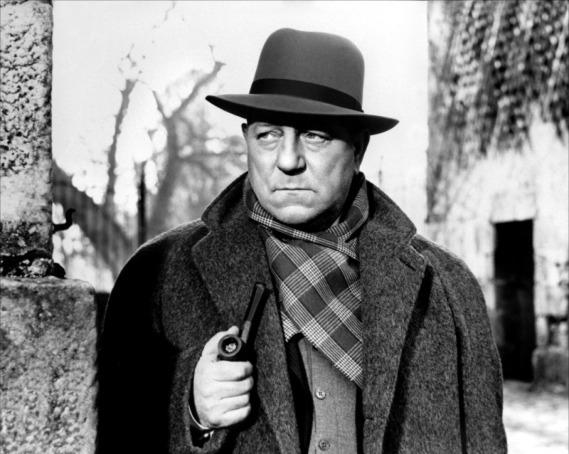 Jean Gabin como el comisario Maigret