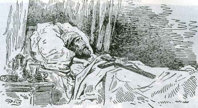 muerte de don Quijote de Doré