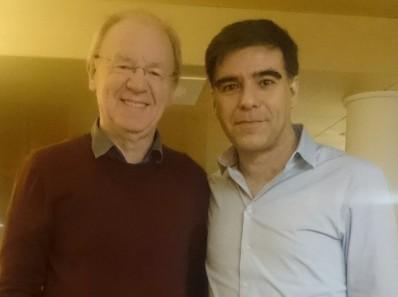 Laurence Rees con Joaquín Armada