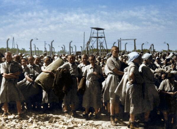 Prisioneras judías húngaras en Birkenau
