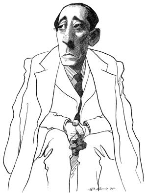Arturo Barea caricatura