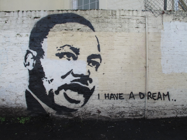 Martin Luther King grafiti
