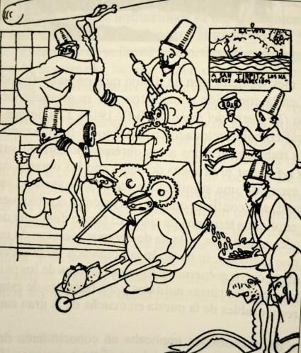 Caricatura de Luis Bagaria España 1920