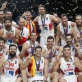 Celebracion victoria España Lituania finalEurobasket