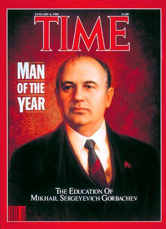 Gorbachov Hombre del año de Time 1988
