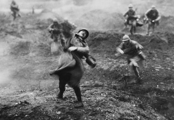 Ataque soldados batalla Verdun