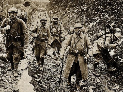 Poilus en Verdun