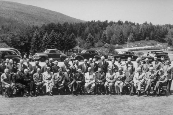 Delegados en la Conferencia de Bretton Woods