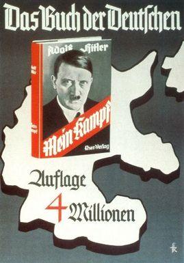 Anuncio nazi de Mi lucha como el libro de los alemanes
