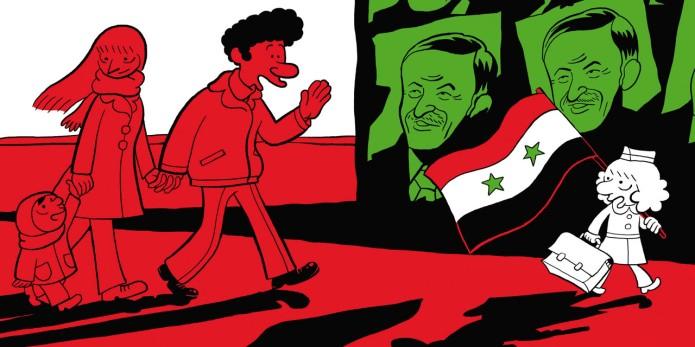 El árabe del futuro cartel de Assad