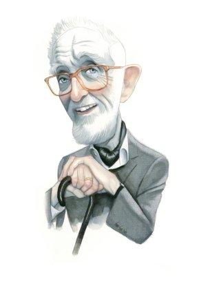 José Luis Sampedro retratado por Fernando Vicente