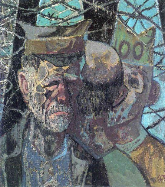 Otto Dix autorretrato como prisionero