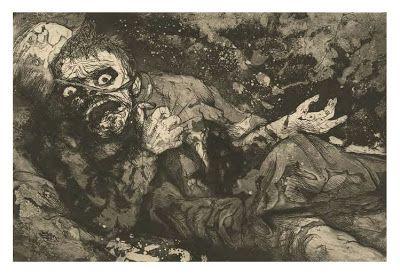 Otto Dix soldado aterrorizado