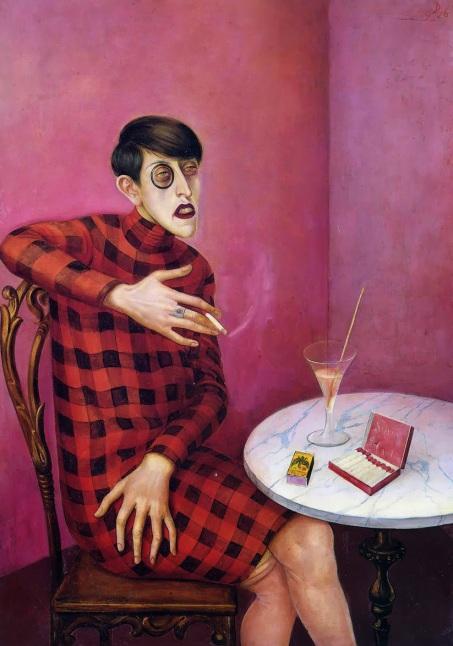 Sylvia von Harden retratada por Otto Dix