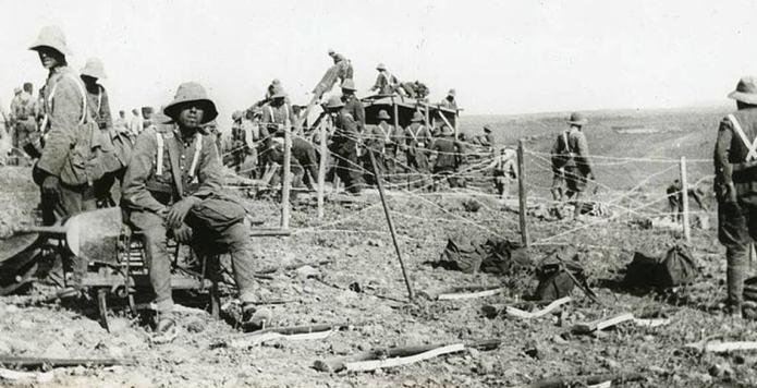 Soldados españoles en la Guerra de Marruecos